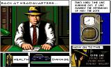 Dick Tracy: The Crime-Solving Adventure Amiga Tracy at HQ.