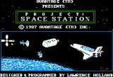 Project: Space Station Apple II Title screen.