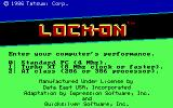 Lock-On PC Booter Title screen (EGA)