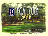 PGA Tour 96 PlayStation The title screen<br>This is built up in sections starting with the background picture. When all the writing is in place a ball lands on the green, butterflies waft across the scene etc