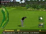"PGA Tour 96 PlayStation Putting for par. The grid appears automatically. This is the first tie the commentator speaks saying ""This long put to go one under par"""