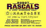 Robot Rascals DOS Title screen (Tandy/PCjr)