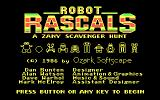Robot Rascals DOS Title screen (CGA)