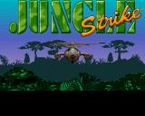 Jungle Strike Amiga CD32 Title screen.