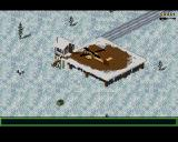 Jungle Strike Amiga Level 6 - This level is a snowy level.
