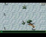 Jungle Strike Amiga Level 6 - A mobile radar protected by an AA gun.