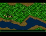Jungle Strike Amiga Level 7 - Heading up a river.
