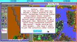 SimCity Graphics Set 2: Future Cities DOS Future Europe - In addition to changing the graphics, many of the text messages and scenario texts are also changed. (EGA)