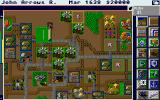 SimCity Graphics Set 1: Ancient Cities Amiga Medieval Times - Overlooking a medieval village.