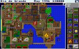 SimCity Graphics Set 1: Ancient Cities Amiga Wild West - A balloon flies overhead.