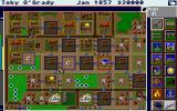 SimCity Graphics Set 1: Ancient Cities Amiga Wild West - Overlooking a Wild West town.