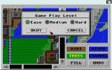 SimCity: Terrain Editor Amiga You can set the Game Play Level for the map.