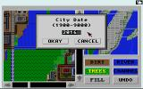 SimCity: Terrain Editor Amiga You can set the year for the map.