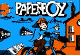 Paperboy Apple II Title screen.