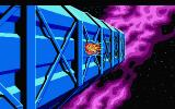 Space Quest III: The Pirates of Pestulon Atari ST Blasting out of the freighter!