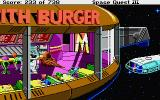 Space Quest III: The Pirates of Pestulon Atari ST Docking at Monolith Burger.