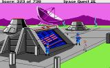 Space Quest III: The Pirates of Pestulon Atari ST Wearing my invisibility belt to sneak inside ScumSoft.