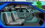 Police Quest 2: The Vengeance Atari ST Examining a stolen car.