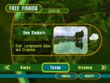 Rapala Pro Fishing Windows In free fishing mode, you can choose the location to fish at