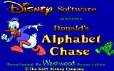 Donald's Alphabet Chase DOS Title screen (EGA)