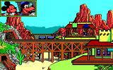 Goofy's Railway Express Amiga Over a bridge.