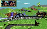 Goofy's Railway Express Commodore 64 Entering a tunnel.