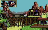 Goofy's Railway Express Commodore 64 Over a bridge.