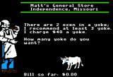 The Oregon Trail Apple II Buying oxen.