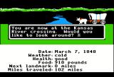 The Oregon Trail Apple II Came to a river.