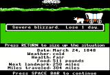 The Oregon Trail Apple II Blizzard!