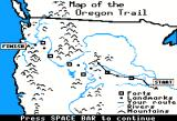 The Oregon Trail Apple II Map of my progress.
