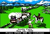 The Oregon Trail Apple II South Pass.