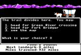 The Oregon Trail Apple II A divide in the trail. Choose which way to go.