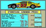 Bill Elliott's NASCAR Challenge Amiga Car selection.