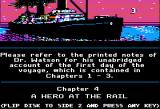 "Sherlock Holmes in ""Another Bow"" Apple II A hero at the rail."