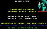 Dragon Spirit Commodore 64 Credits