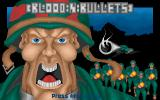 Shoot 'em up Construction Kit  Amiga Example game - Blood 'n' Bullets title screen.
