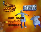 Inspector Gadget: Mad Robots Invasion PlayStation 2 Menu screen.