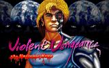 Violent Vengeance: The Universe Hero DOS Title screen (Korean release)