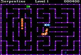 Serpentine Apple II Snakes wandering around a maze...