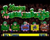 Xmas Lemmings Amiga Menu - how festive!