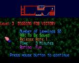 Xmas Lemmings Amiga Level 3 - overview.