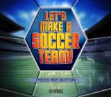 Let's Make a Soccer Team! PlayStation 2 The title screen. The main menu which is displayed next has three options, 'New game', 'Continue', and 'Options'