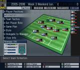 Let's Make a Soccer Team! PlayStation 2 Preparing for a match: This is the main team configuration screen