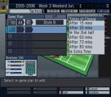 Let's Make a Soccer Team! PlayStation 2 Preparing for a match: It's possible to 'program' a set of team changes in advance