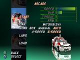 International Rally Championship PlayStation Arcade Mode: Car selection