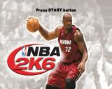 NBA 2K6 PlayStation 2 The title screen