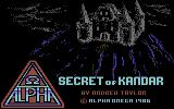 Secret of Kandar Commodore 64 Title screen