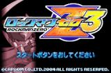 Mega Man Zero 3 Game Boy Advance Title Screen