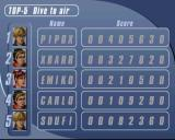 Sky Surfer PlayStation 2 Dive to air: The high score table comes pre-populated